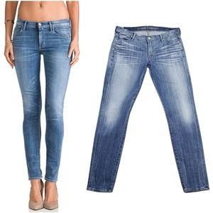 Citizens of Humanity Blue Faded Avedon Skinny Jeans Size 31
